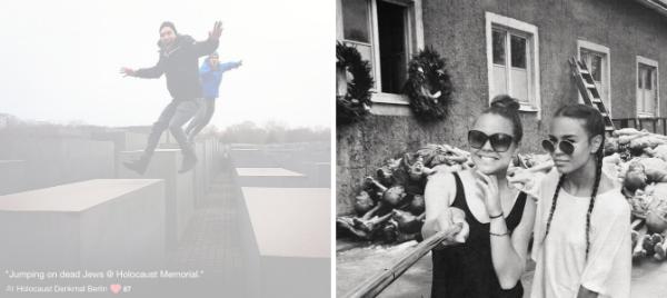 Yolocaust: Акция против селфи на фоне мемориала жертвам Холокоста . Изображение № 1.