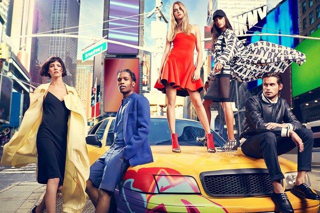 A$AP Rocky и Кара Делевинь в рекламной кампании DKNY. Изображение № 1.