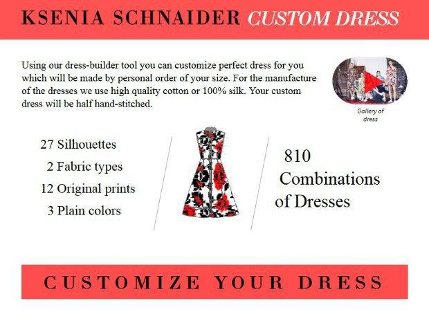 Украинская марка Ksenia Schnaider запустила конструктор платьев. Изображение № 1.