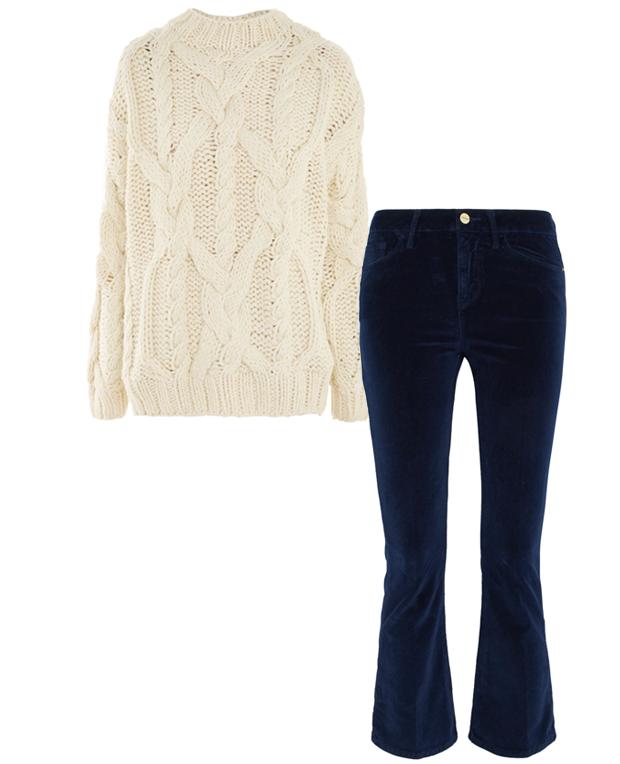 Комбо: Вельветовые брюки с шерстяным свитером. Изображение № 2.