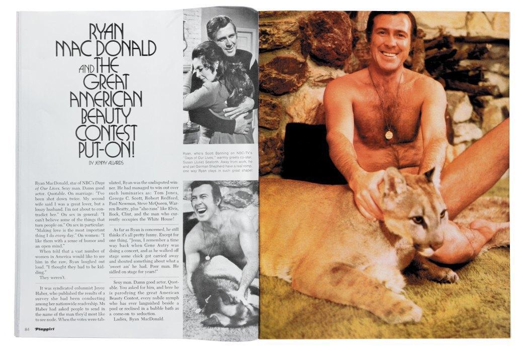 Разворот журнала Playgirl  за 1973 год. Изображение № 7.
