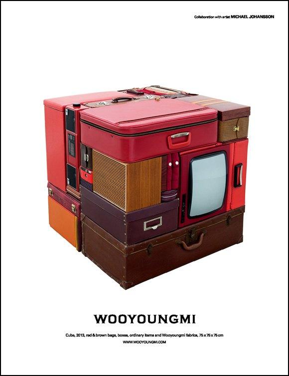 Арт-объекты из чемоданов и печатных машинок в кампании Wooyoungmi. Изображение № 2.