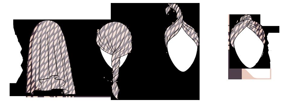 7 способов повязать платок  на голову. Изображение № 14.