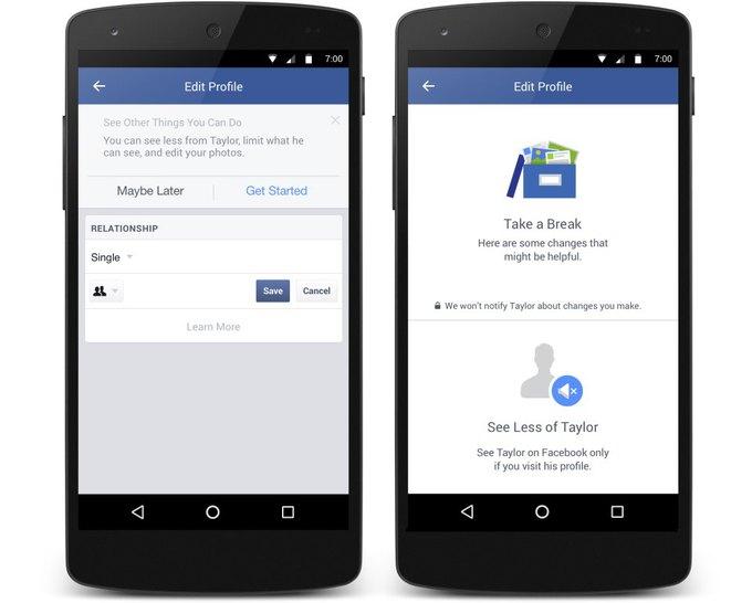 Новые функции Facebook помогут пережить расставание. Изображение № 1.