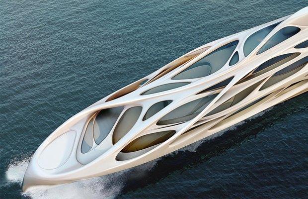 Заха Хадид разработала дизайн футуристической суперъяхты. Изображение № 5.
