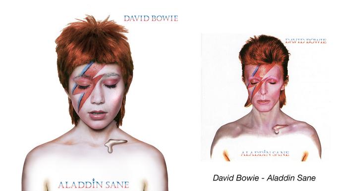 Девочки-музыканты воссоздали обложки знаменитых альбомов. Изображение № 5.