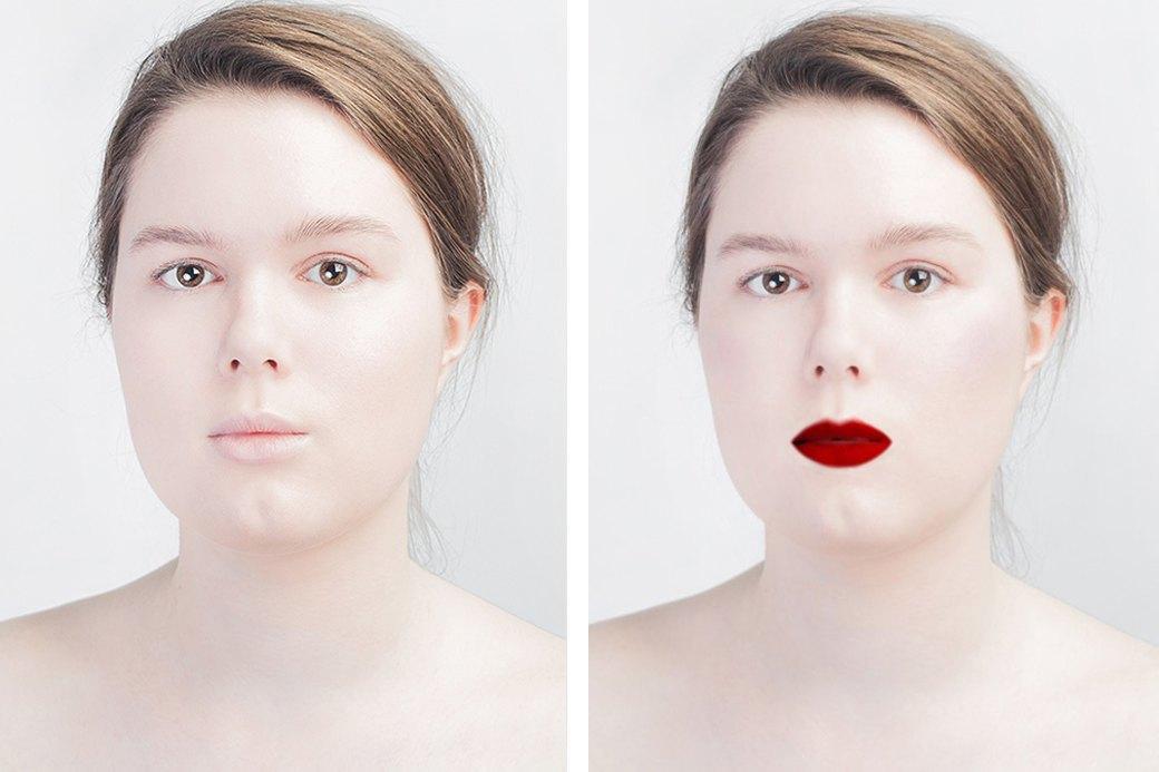 До и после макияжа:  Редакция тестирует  бьюти-приложения. Изображение № 2.