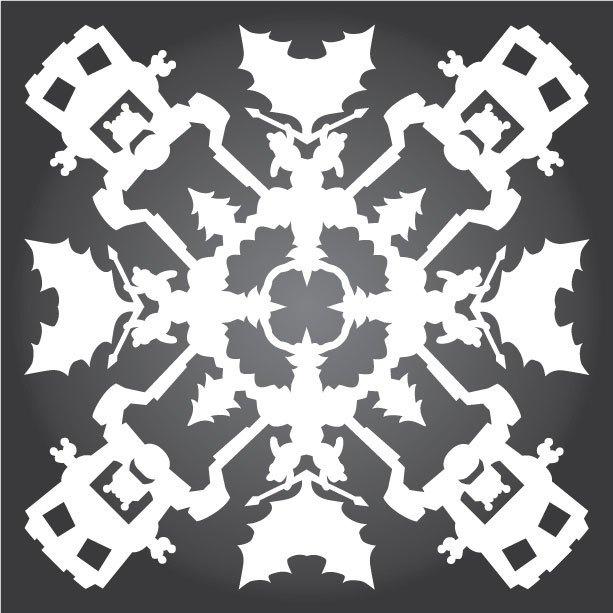 Снежинки с героями «Звездных войн» можно скачать и распечатать. Изображение № 4.
