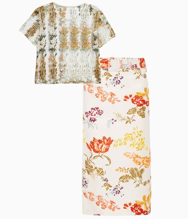 Комбо: Цветочный принт с цветочным принтом. Изображение № 1.