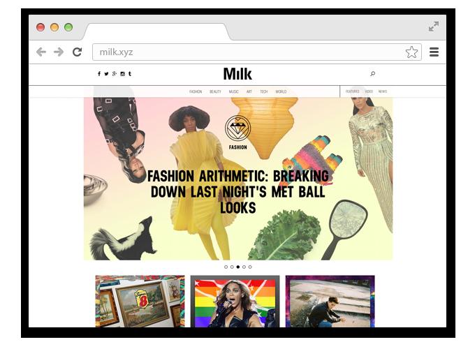 В закладки: Сайт Milk о современном искусстве, моде и технологиях. Изображение № 1.