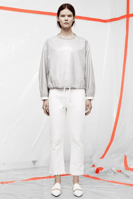 Кожаные толстовки и брюки в коллекции T by Alexander Wang. Изображение № 18.