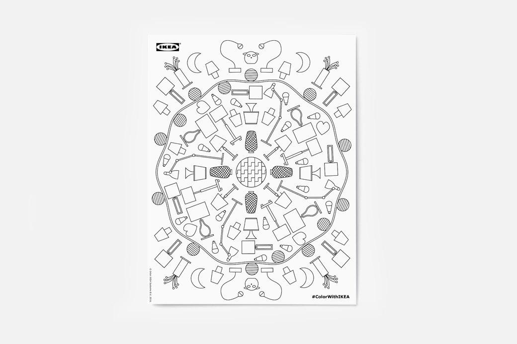Раскраска для тех, кто очень любит IKEA. Изображение № 1.