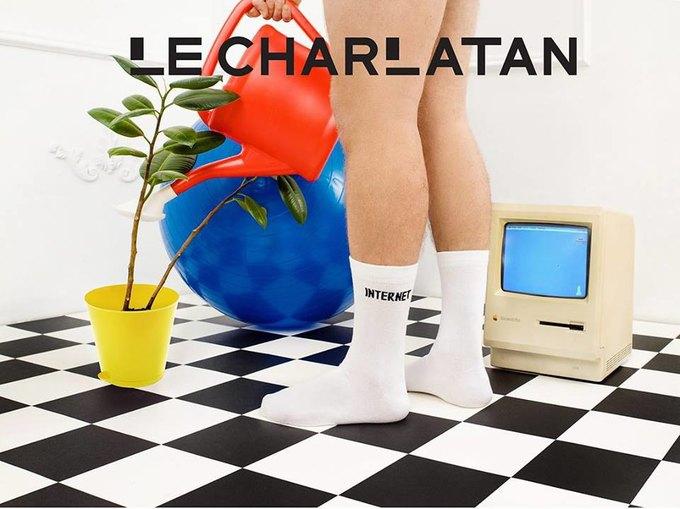 Лего, ноги гиков и роботы в лукбуке марки носков Le Charlatan. Изображение № 1.