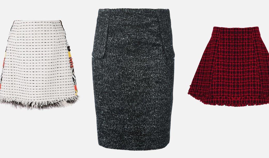 Что носить осенью: Пальто, платья, обувь и другие актуальные вещи из твида. Изображение № 4.
