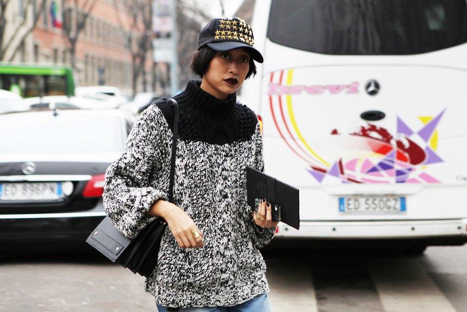 Анна Делло-Руссо, Элеонора Каризи и другие гости Миланской недели моды. Изображение № 26.