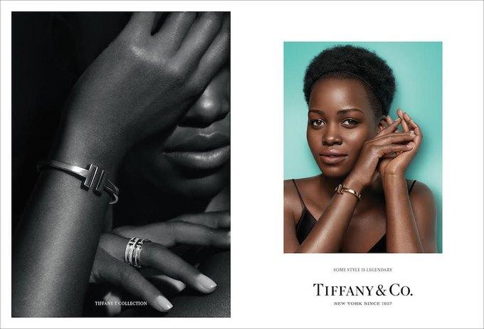 Люпита Нионго и Эль Фаннинг снялись в рекламе Tiffany & Co.. Изображение № 1.