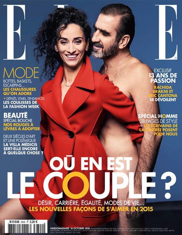 Футболист Эрик Кантона разделся для обложки французского ELLE. Изображение № 1.