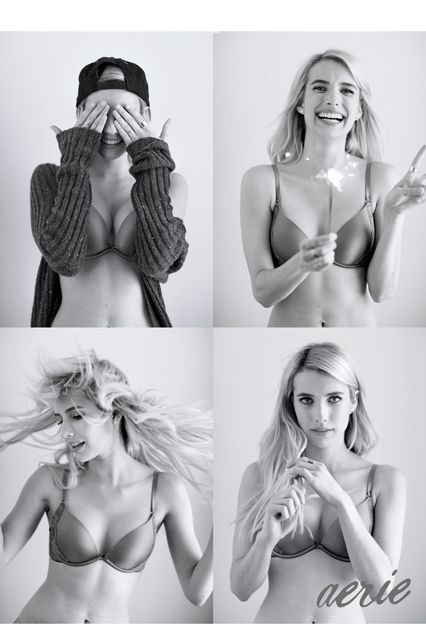 Эмма Робертс снялась в рекламе нижнего белья без ретуши. Изображение № 2.