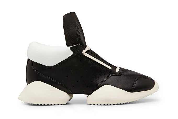 Кожаные и нейлоновые кроссовки Рика Оуэнса для adidas. Изображение № 1.