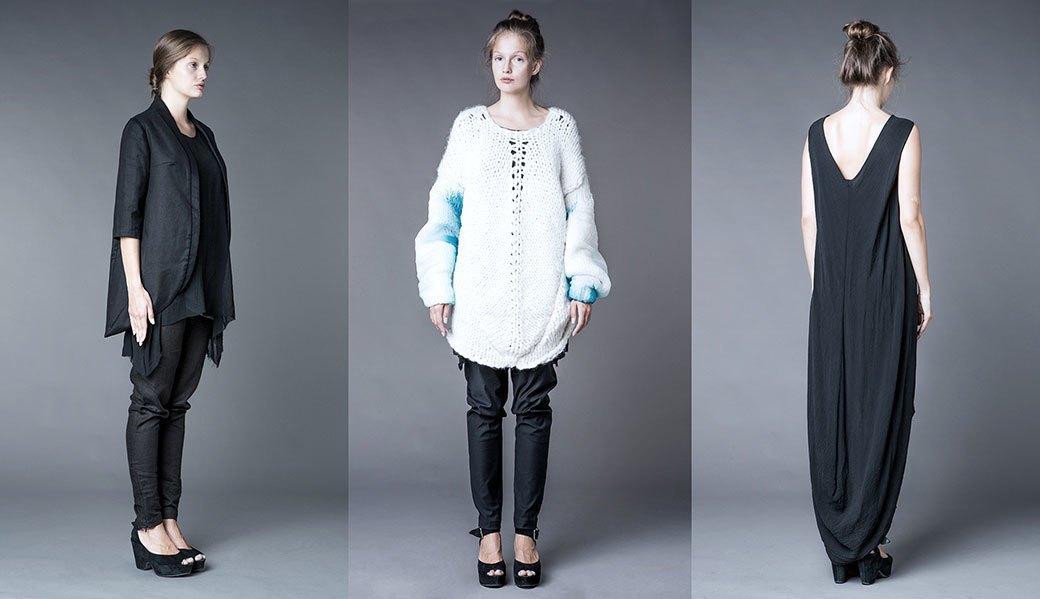 Асимметричные платья и объемные свитера Krasavina. Изображение № 5.
