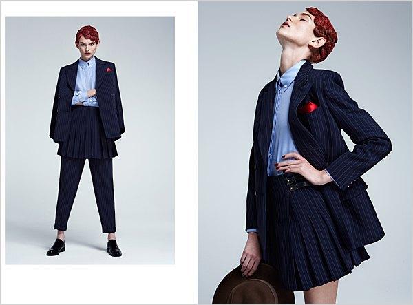 Костюмы в мужском стиле и пальто-халаты в лукбуке Oksana On & Trends Brands. Изображение № 1.