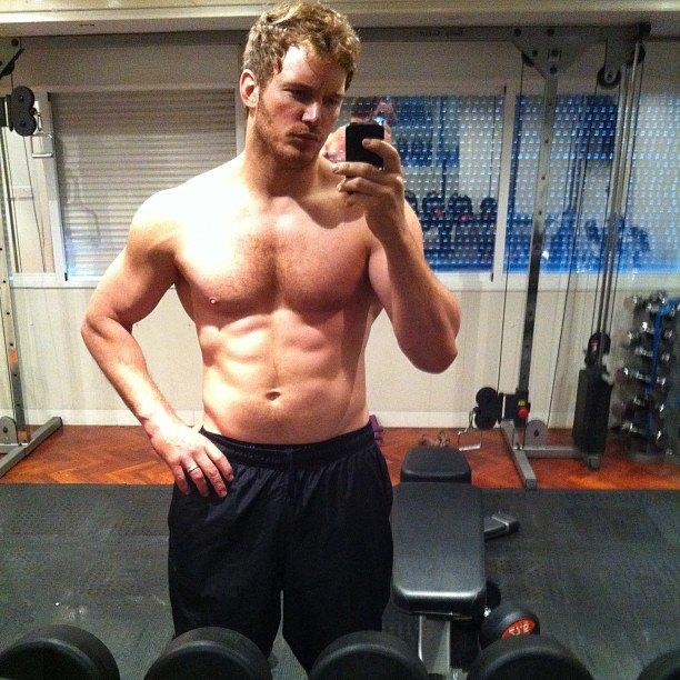 Крис Прэтт хвалится своим новым телом в Instagram. Изображение № 1.
