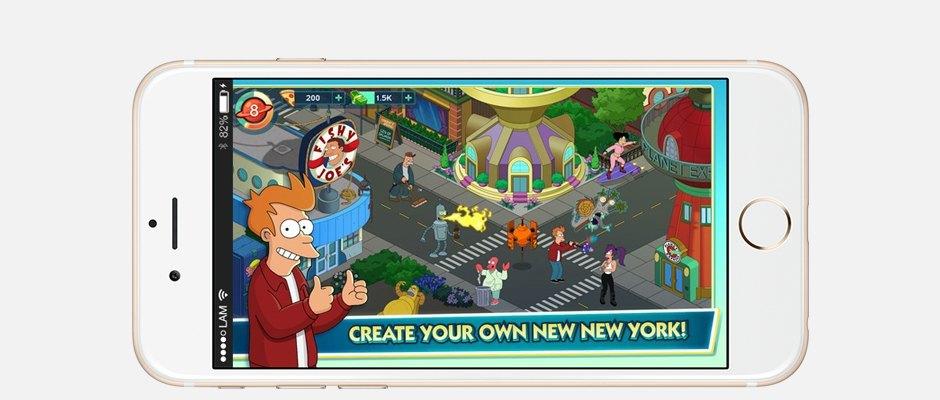 С возвращением: Мобильная игра «Futurama: Worlds of Tomorrow». Изображение № 1.