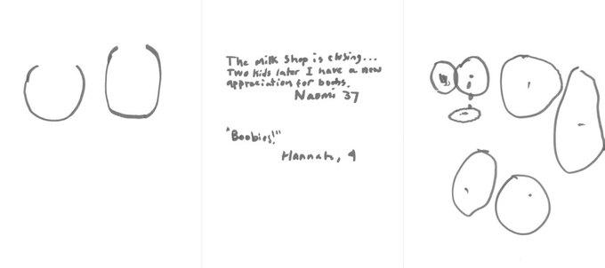 «Молоко заканчивается... Теперь, когда у меня двое детей, я по-новому ценю собственную грудь», — Наоми, 37. «Сиси!» — Ханна, 4. Изображение № 16.