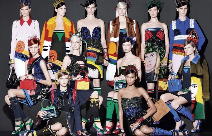 Для новой кампании Prada снялись 18 моделей. Изображение № 6.