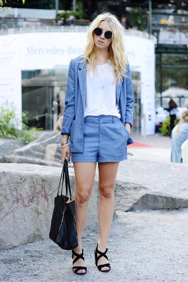 Парни в криперах и девушки в шортах на Неделе моды в Стокгольме . Изображение № 9.