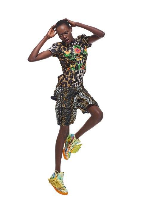 Неоновые цвета и крылья в лукбуке Джереми Скотта для adidas Originals. Изображение № 8.