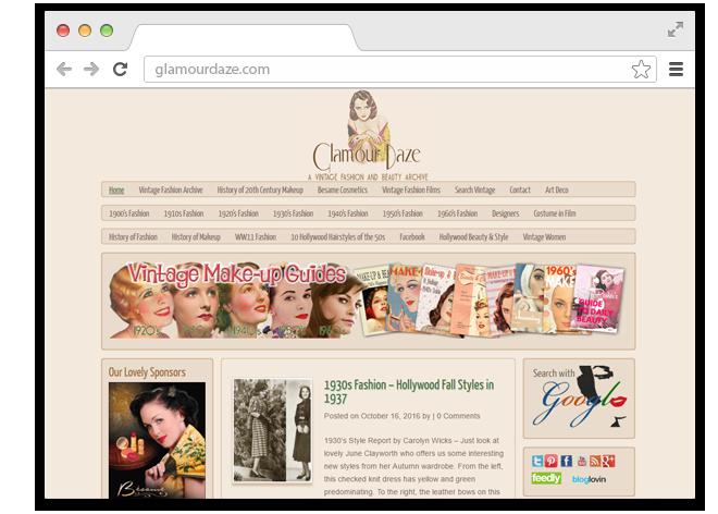 В закладки: Блог  о винтажной моде, красоте  и причёсках Glamour Daze. Изображение № 1.