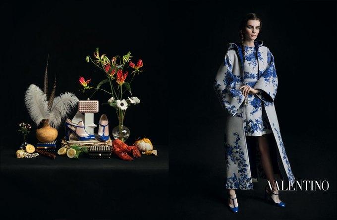 Valentino воссоздала фламандскую живопись для новой кампании. Изображение № 9.