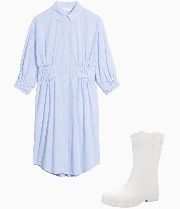 Комбо: Платье с резиновыми сапогами. Изображение № 3.