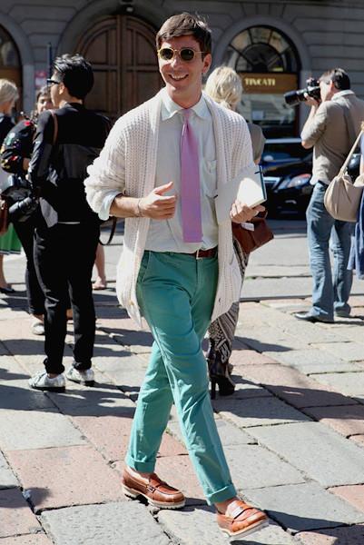Milan Fashion Week: Уличный стиль, день 1. Изображение № 4.