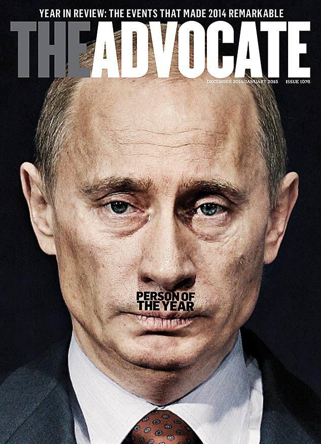 ЛГБТ-журнал выбрал Владимира Путина человеком года. Изображение № 1.