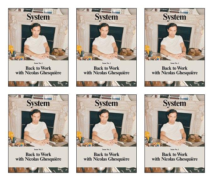 Николя Гескьер появился на обложке нового журнала System. Изображение № 1.