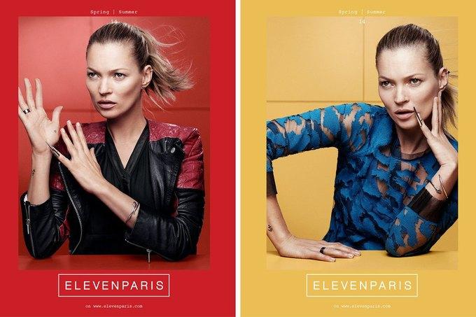 Кейт Мосс в рекламной кампании Eleven Paris. Изображение № 1.