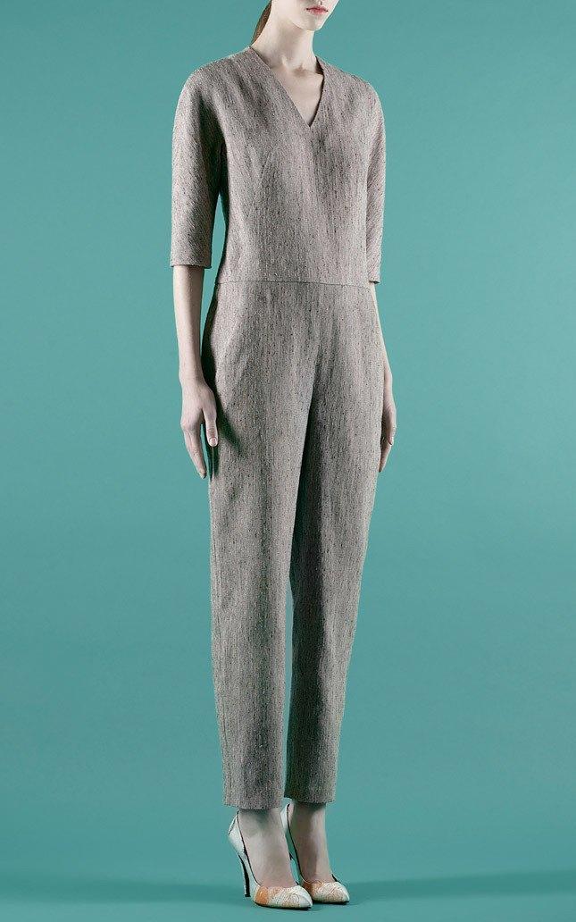 Шелковые пальто и платья с фламинго в новом лукбуке Vika Gazinskaya. Изображение № 8.
