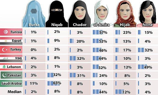Мусульмане хотят, чтобы женщины ходили с открытым лицом. Изображение № 1.