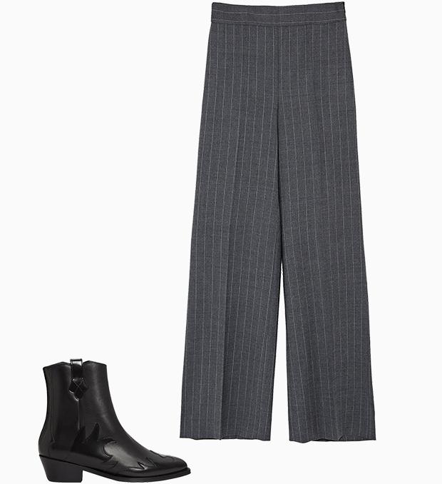 Комбо: Широкие брюки с казаками. Изображение № 1.
