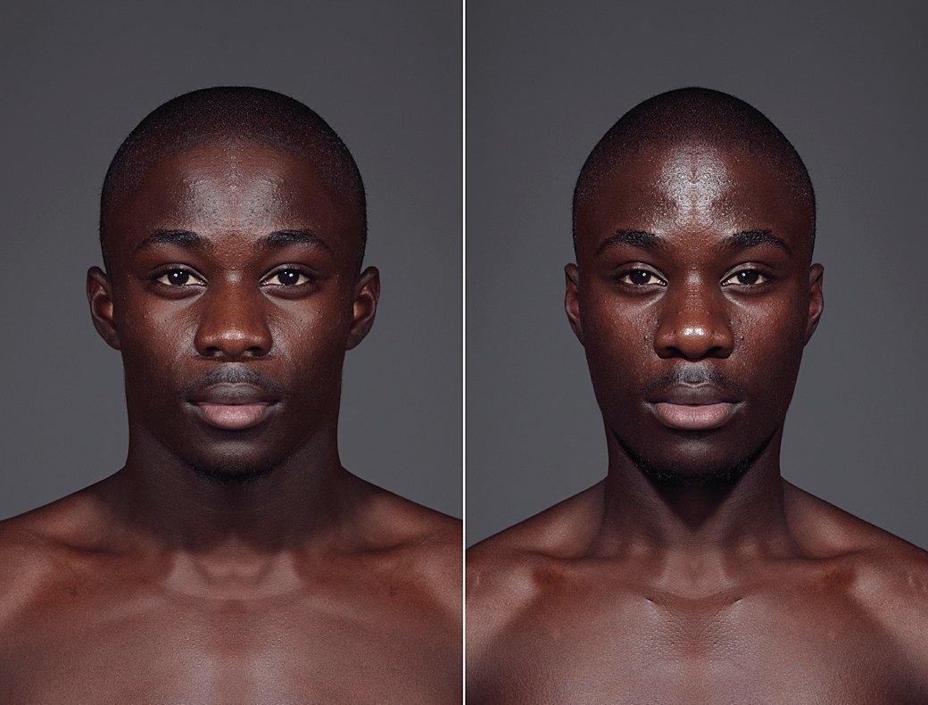 «Симметричные портреты»:  Два человека в одном. Изображение № 11.