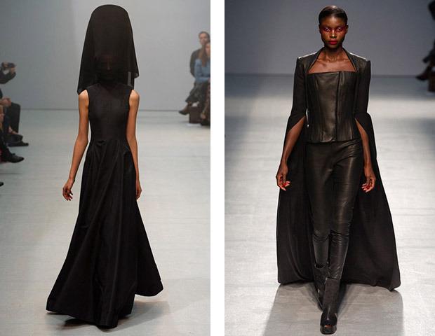 Бэкстейдж Gareth Pugh: Алые платья и «заплаканные» модели. Изображение № 41.
