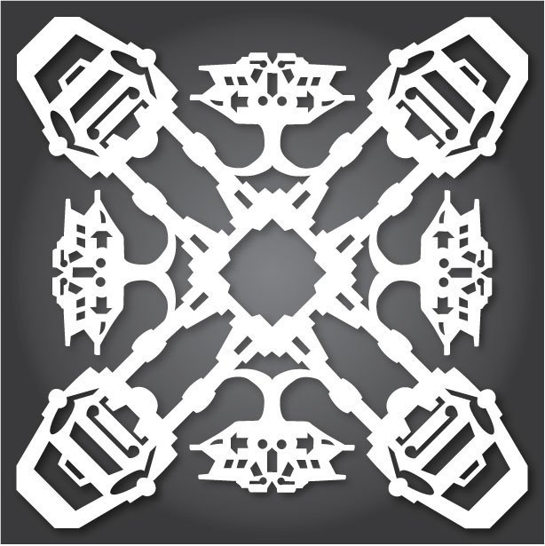 Снежинки с героями «Звездных войн» можно скачать и распечатать. Изображение № 5.