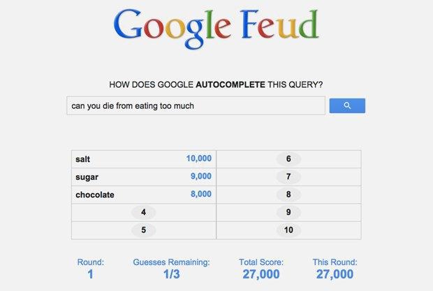«Google Feud»: викторина  по популярным поисковым запросам. Изображение № 8.