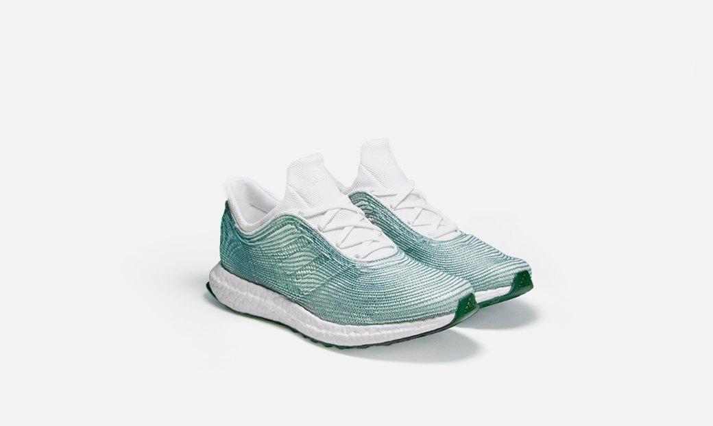 Кроссовки adidas x Parley  из переработанного мусора  со дна океана . Изображение № 1.