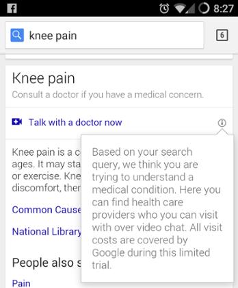 Всем гуглящим симптомы болезни Google теперь предлагает позвонить врачу. Изображение № 1.