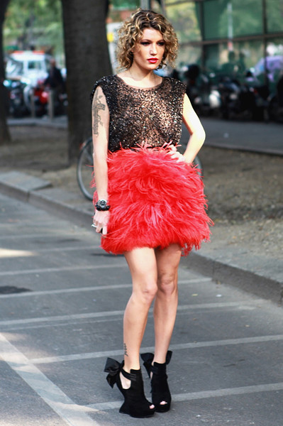 Milan Fashion Week: Уличный стиль, день 4. Изображение № 11.