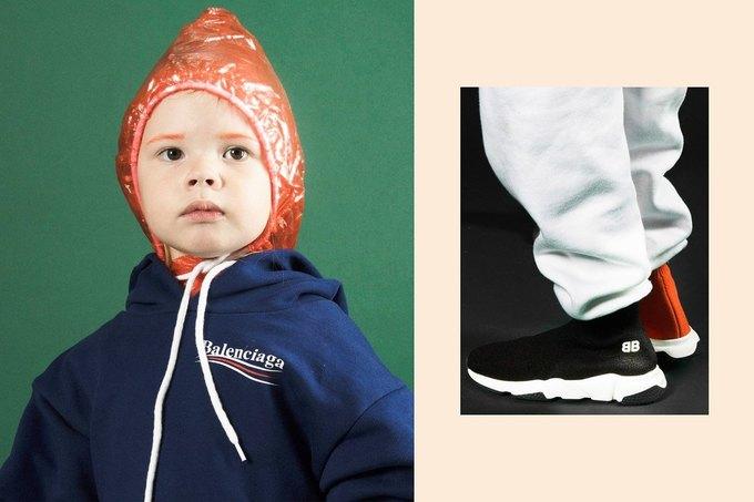 Balenciaga показали яркую детскую коллекцию. Изображение № 8.