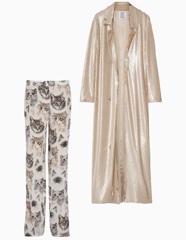 Комбо: Жакет в пайетках c пижамными брюками. Изображение № 1.